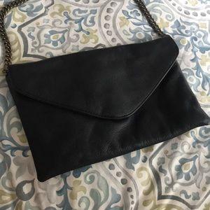 JCREW Leather Envelope Clutch NWOT